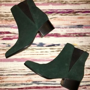Urban Outfitters Emerald Green Suede Boots, Size 7